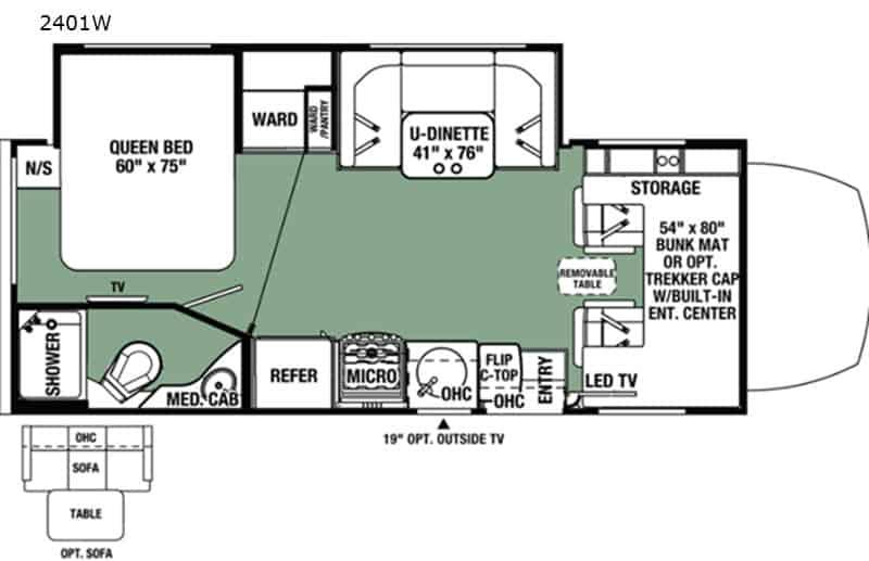 2020 Forest River Forester 2401WSD floor plan