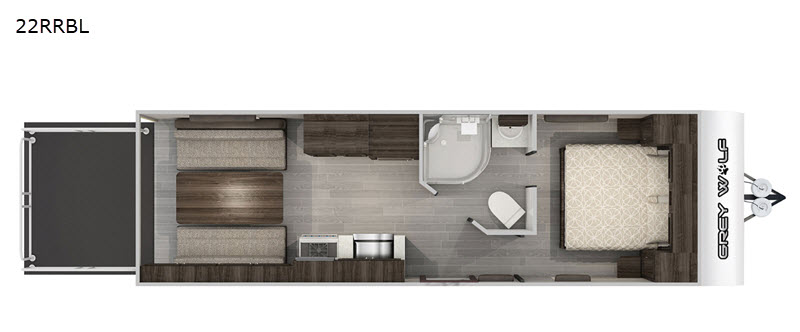 2020 Forest River Grey Wolf 22RRBL floor plan