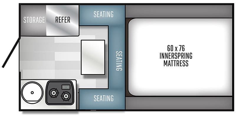 2020 Forest River Real Lite SS1600 floor plan