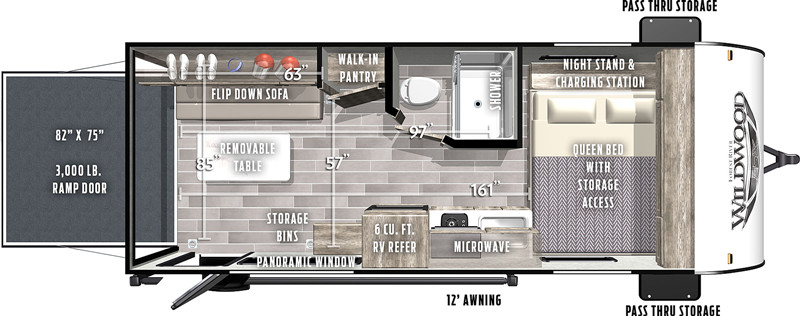 2020 Forest River Wildrood FSX 181RT floor plan
