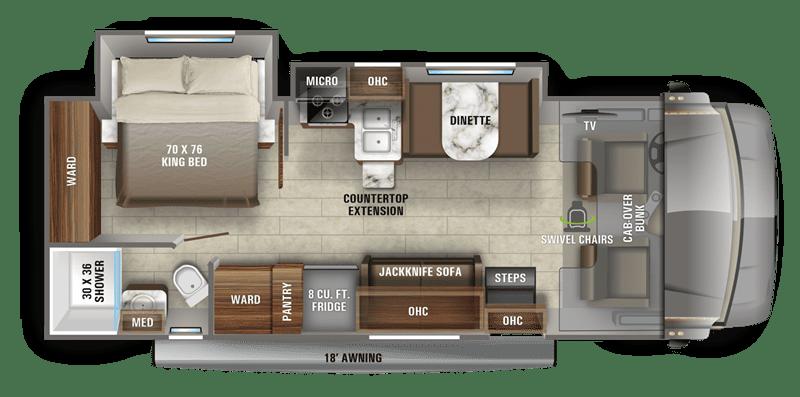 2020 Greyhawk 27U floor plan