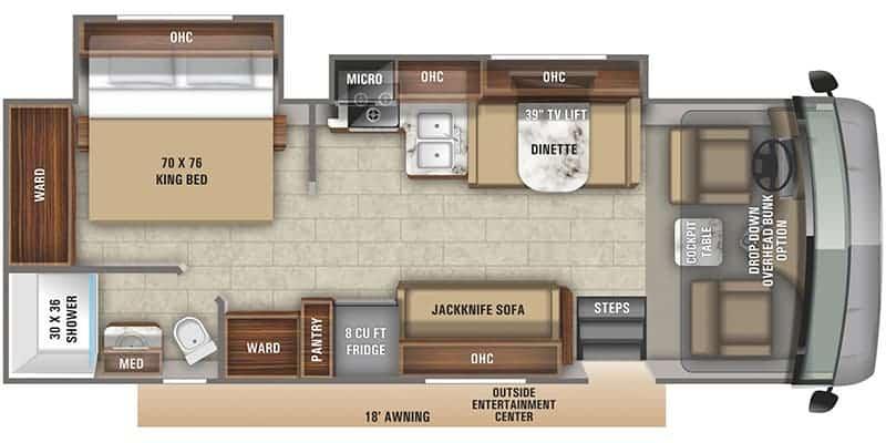 2020 Jayco Alante 27A floor plan
