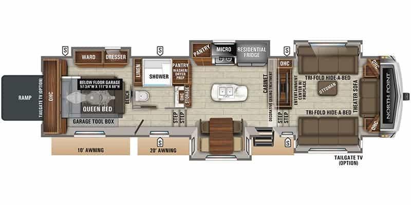 2020 Jayco North Point 385THWS floor plan