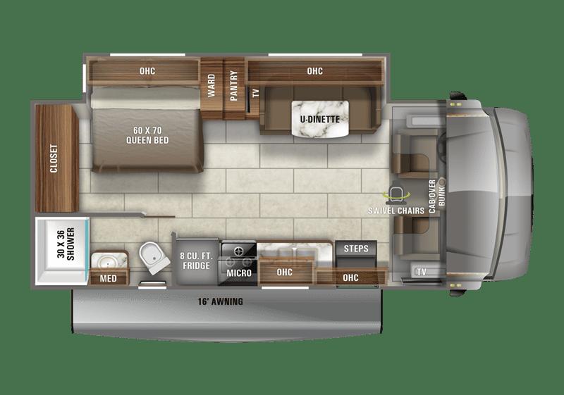2020 Jayco Redhawk 24B floor plan