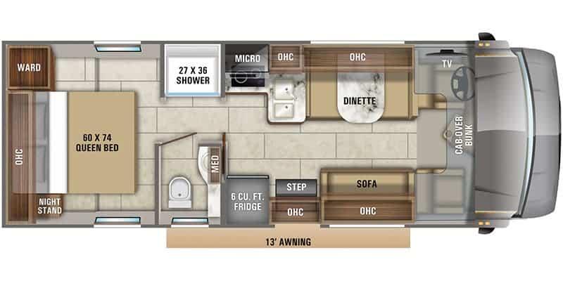 2020 Jayco Redhawk 27N floor plan