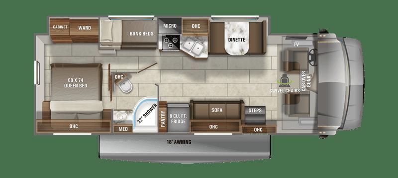2020 Jayco Redhawk 31F floor plan