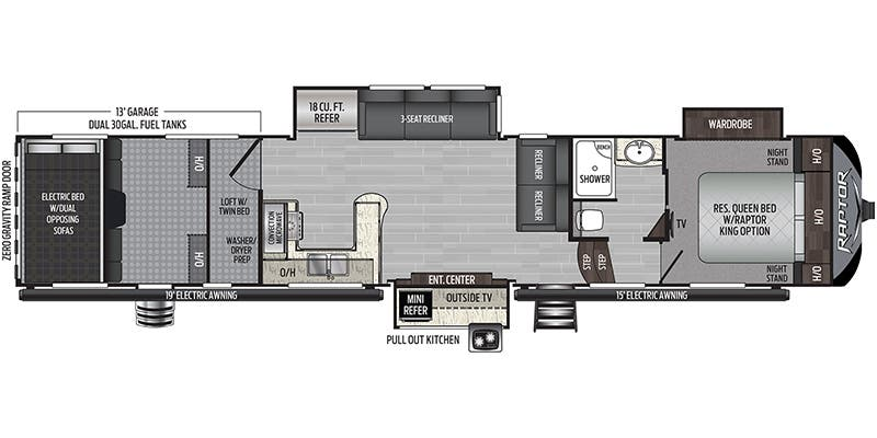 2020 Keystone Raptor 423 floor plan