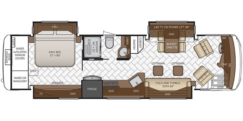 2020 Newmar New Aire 3545 floor plan