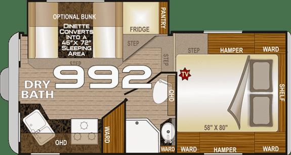 2020 Northwood Arctic Fox Camper 992 floor plan
