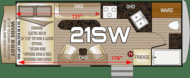2020 Northwood Desert Fox 21SW floor plan