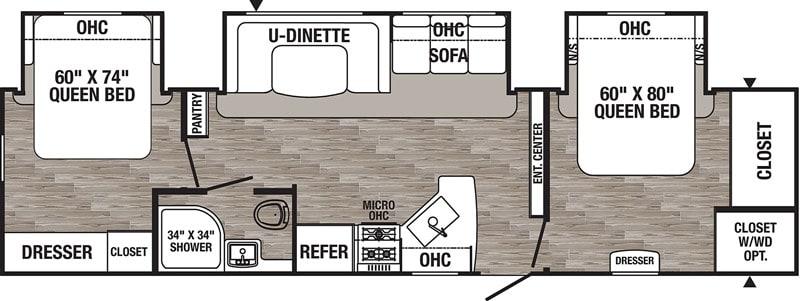 2020 Puma 32RBFQ2 floor plan