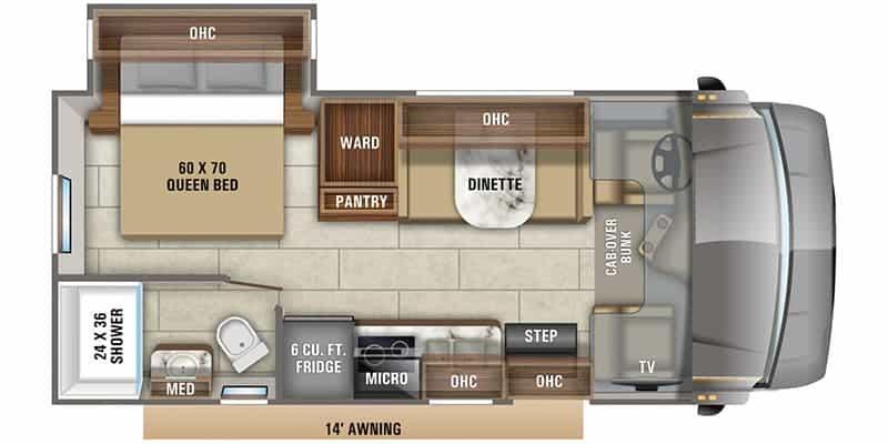 2020 Redhawk 22C floor plan