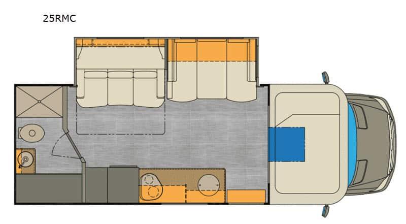 2020 Renegade Vienna 25RMC floor plan