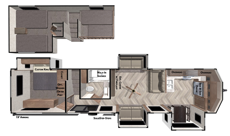 2020 Salem Grand Villa 42FK floor plan