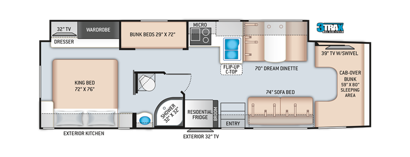 2020 THOR Omni BB35 floor plan