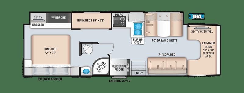 2020 Thor BB35 floor plan