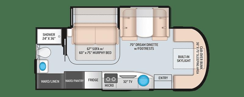2020 Thor Delano 24FB floor plan