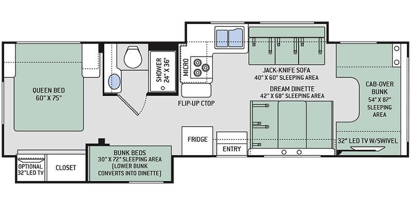 2020 Thor Motor Coach 30D floor plan