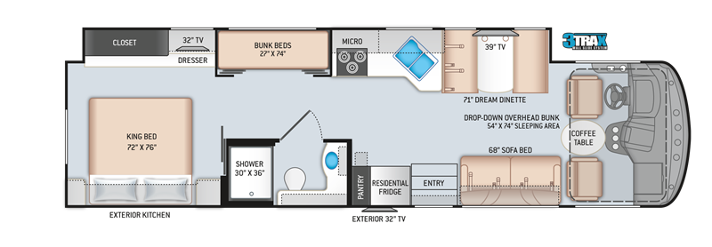 2020 Thor Motor Coach 34J floor plan