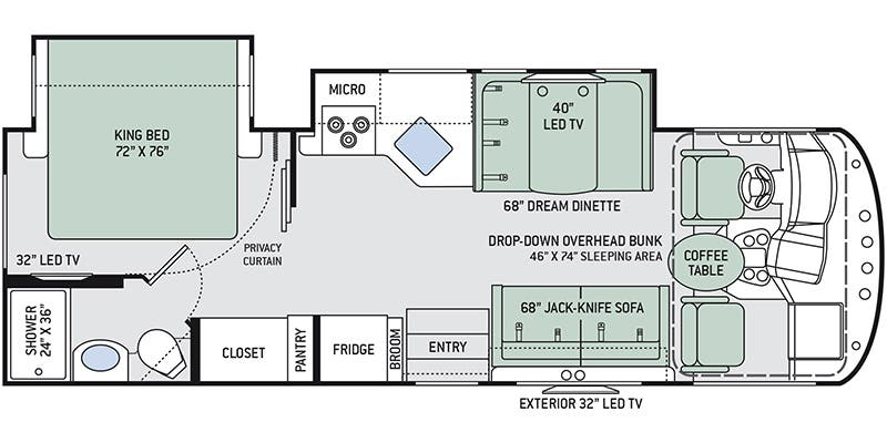 2020 Thor Motor Coach ACE 27.2 floor plan
