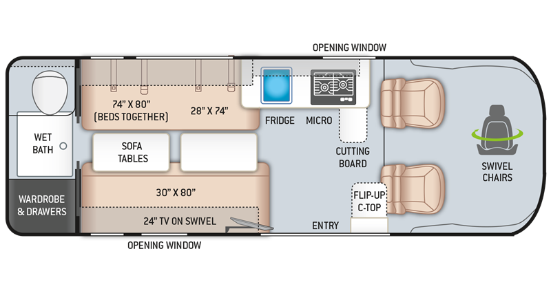 2020 Thor Sequence 20L floor plan