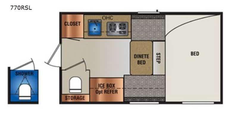 2020 Travel Lite Super Lite 770RSL floor plan