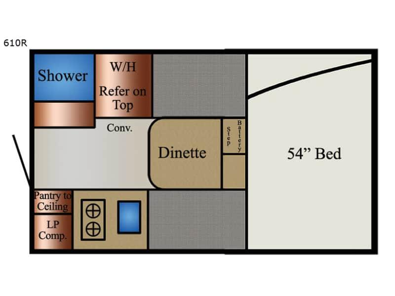 2020 TravelLite 610R floor plan