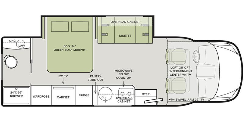 2020_Tiffin_Wayfarer_25RW floor plan