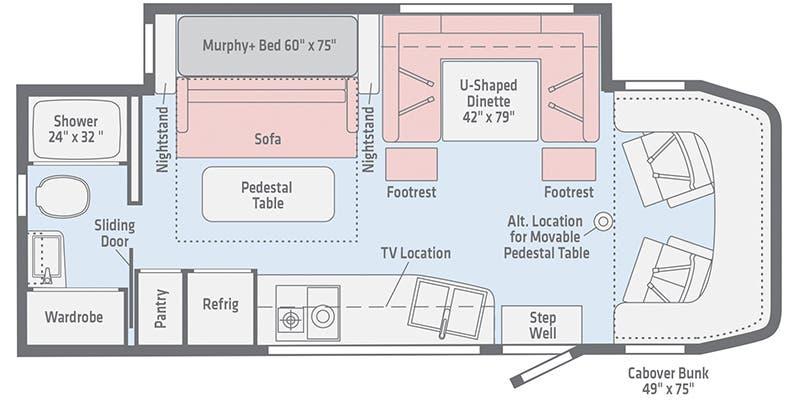 2020 Winnebago View 24D floor plan