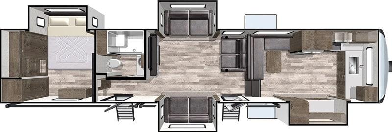 2021 Cardinal 402FKLE floor plan