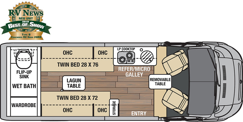 2021 Coachmen Nova 20RB floor plan