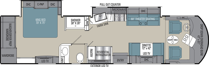2021 Coachmen Sportscoach 339DS floor plan