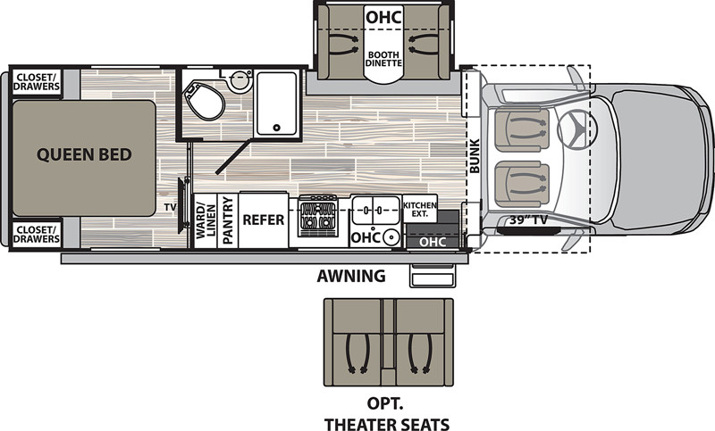 2021 Dynamax Isata 5 28SS floor plan