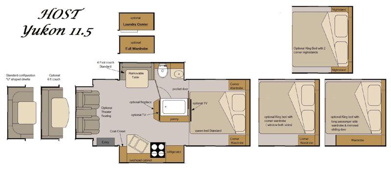 2021 Host Yukon Truck Camper floor plan