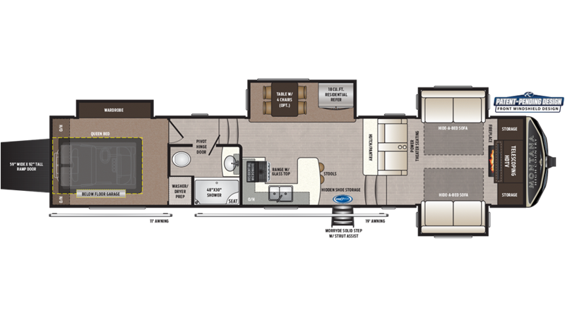 2021 Keystone Montana High Country 383TH floor plan