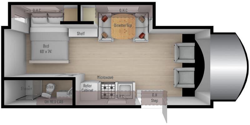 2021 Nexus Triumph 24T floor plan