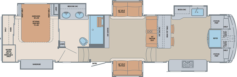 2021 Palomino Columbus F388FK floor plan