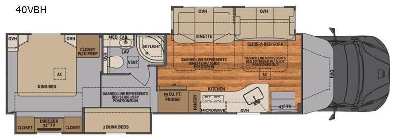 2021 Verona 40VBH floor plan