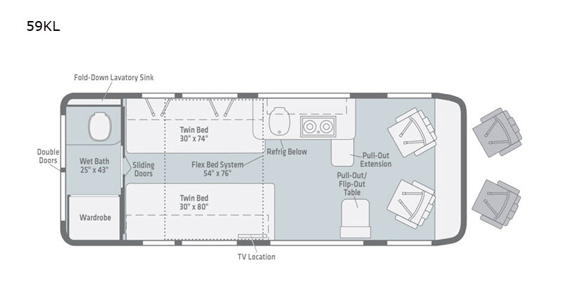 2021 Winnebago Travato 59KL floor plan